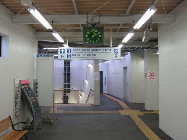改札口からホームへ向かうには必ず地下道を経由する。