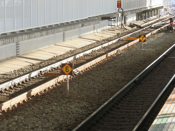 二子玉川駅2番線の7両用停車目標