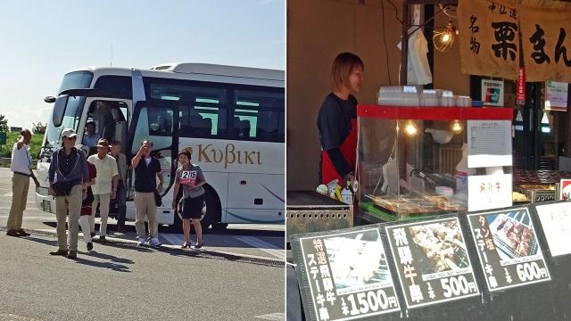 3頸城交通バスと飛騨牛出店