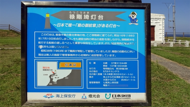 21禄剛崎灯台説明看板