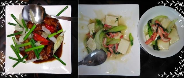 8スブタ・蟹と豆腐と青梗菜の炒め物