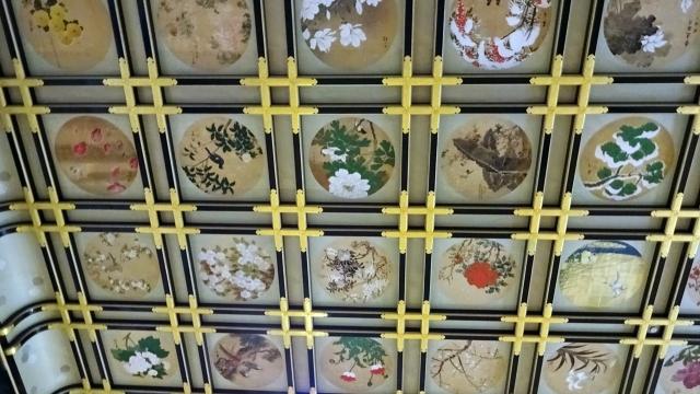 9傘松閣の天井絵