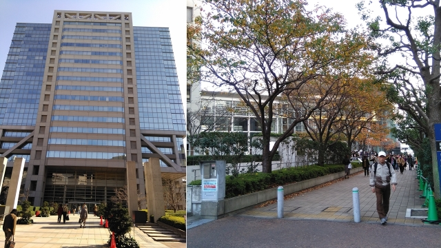 10アロマスクエアビルと太田区民ホールアプリコ