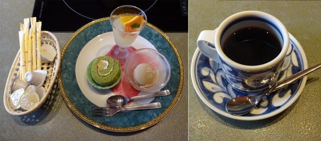 25パティシエのデザート3点盛りとコーヒー