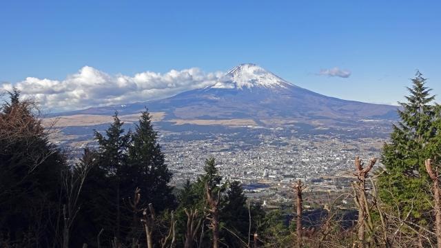4乙女峠展望台からの富士山