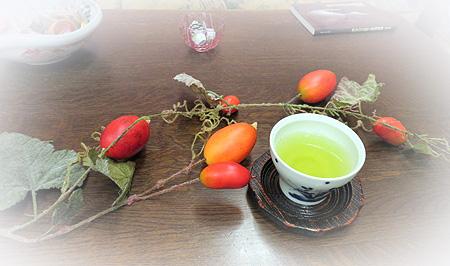 106ア-ト烏瓜・お茶