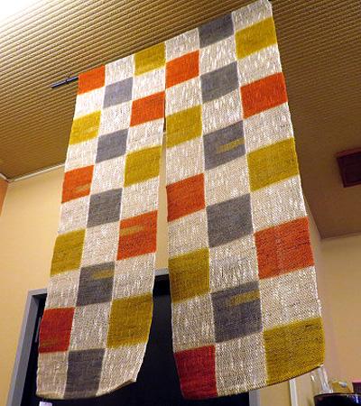 106暖簾 織り