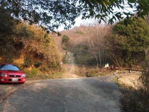 勝賀城/登り口