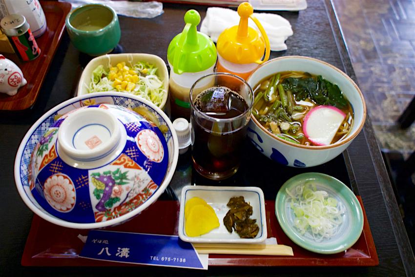 八溝@高根沢町大字石末 カツ丼+そばセット1