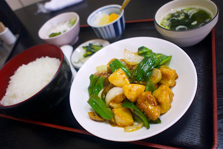 中華料理 栄華楼@下野市緑 鶏肉とピーマン炒め定食