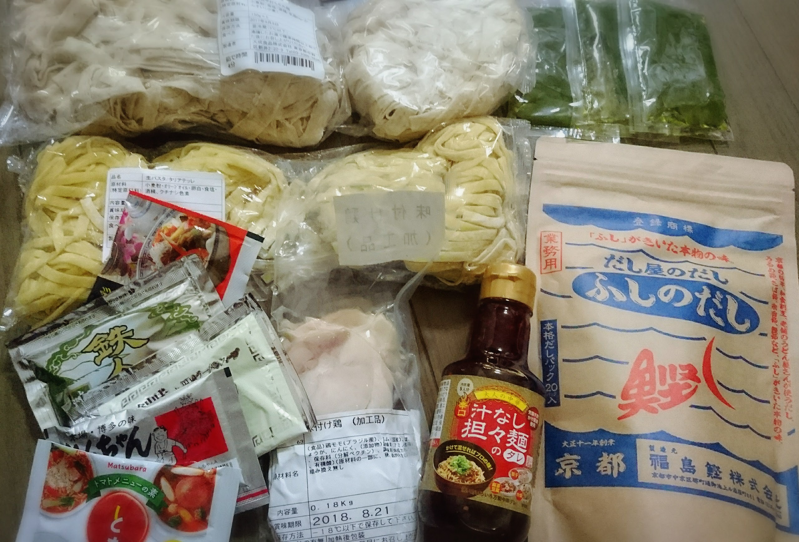 大成麺市場買い物例