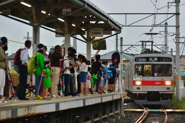 2017年7月29日 上田電鉄別所線 上田原 1000系1001編成