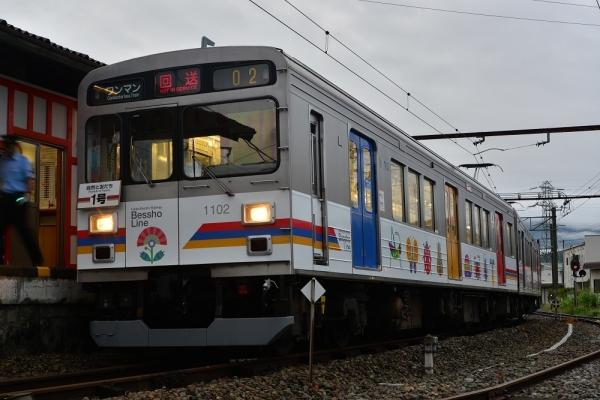 2017年7月30日 上田電鉄別所線 下之郷 1000系1002編成
