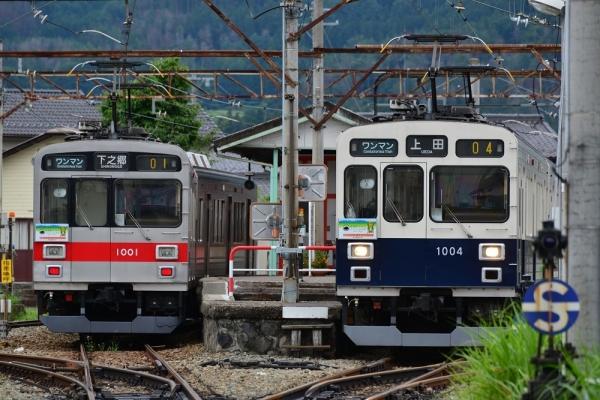 2017年7月30日 上田電鉄別所線 下之郷 1000系1001編成/1004編成