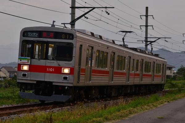2017年8月28日 上田電鉄別所線 中野~舞田 1000系1001編成