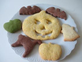 ハロウインクッキー(パンプキン・ココア・抹茶・プレーンクッキー)
