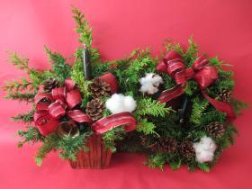 クリスマスキャンドルフラワーアレンジメント、クリスマスリース