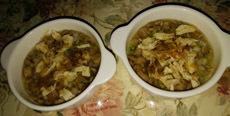 ササミ野菜スープと生牛ミンチ