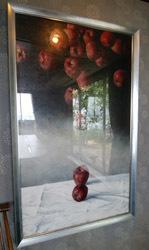 美次さん 林檎の絵