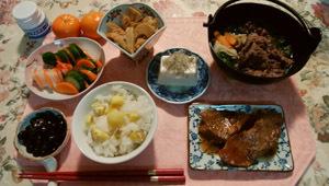 栗ごはん・すき焼き・煮物
