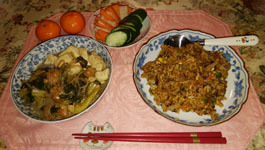 醤油焼き飯とすき焼き