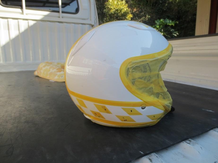 SHOEIヘルメット塗装