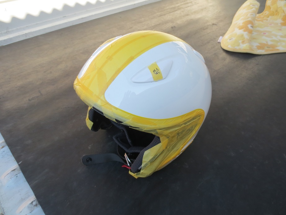 SHOEIヘルメット塗装2