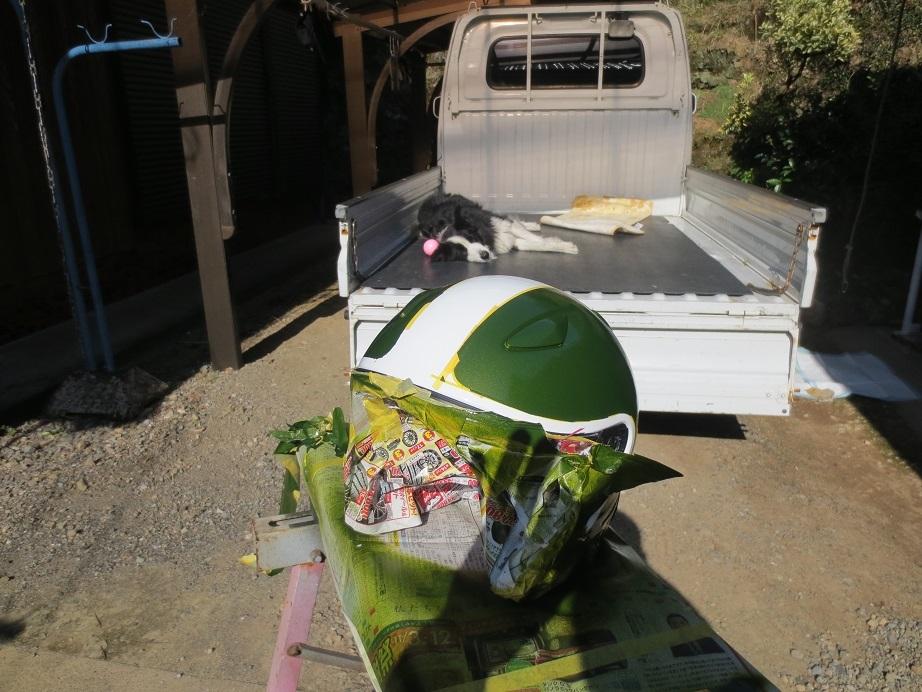 SHOEIヘルメット塗装4