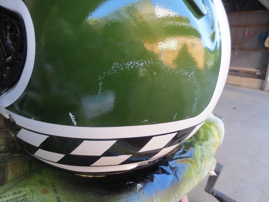 SHOEIヘルメット塗装5