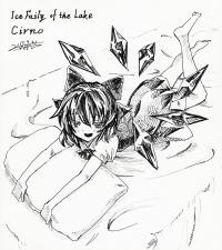 チルノ ペン画1200px