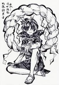 神奈子 ペン画1200px