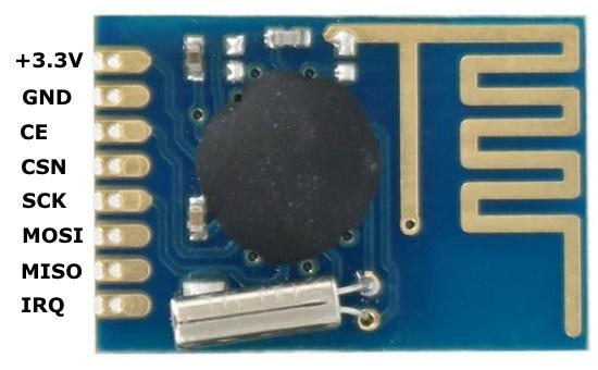 2400MGHzラジコン用ファームウェア(SE8R01)SMDタイプピン接