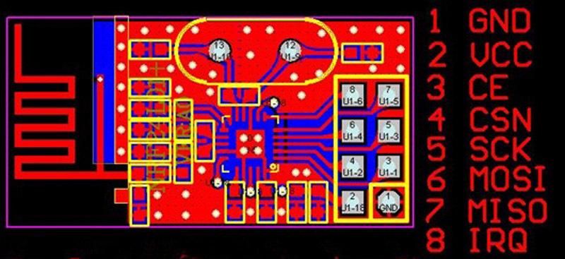 2400MHzラジコン用ファームウェア(nRF24L01+)DIPタイプピン接