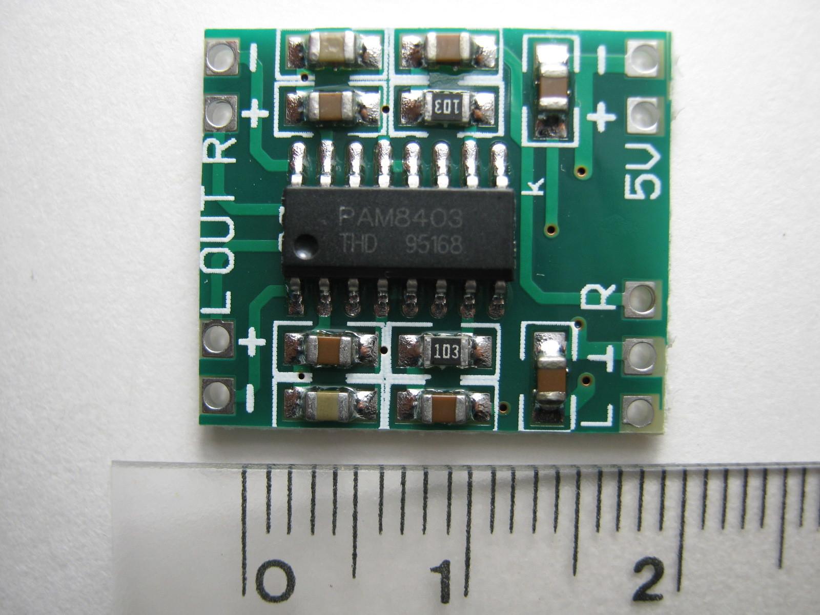 RFチェッカー(AD8134)用ミニデジタルアンプ基板表