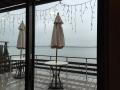 店内から観える琵琶湖