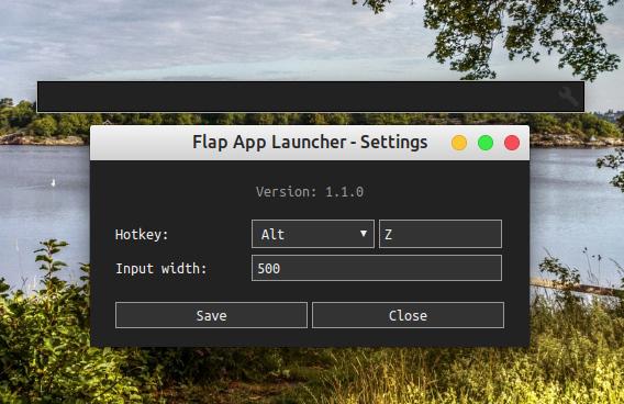 Flap App Launcher Ubuntu アプリケーションランチャー 設定 ホットキーの変更