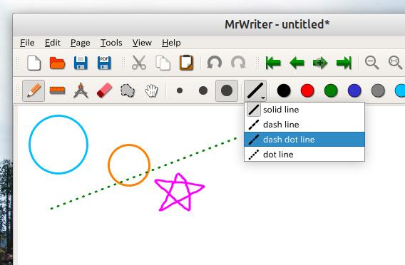 MrWriter Ubuntu 手書きノート ツールアイコン