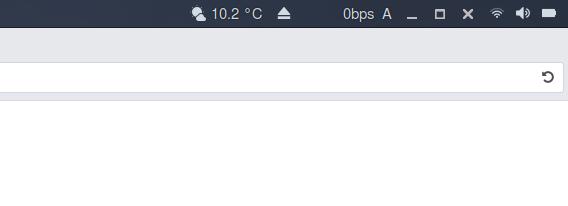 Pixel Saver GNOME拡張機能 トップバー右側 ウィンドウボタン