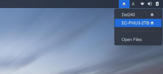 Removable Drive Menu GNOME拡張機能 Ubuntu 17.10 ドライブ アンマウント