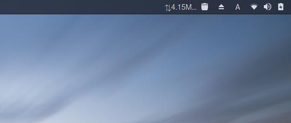 Simple net speed GNOME拡張機能 Ubuntu 17.10 インターネット速度