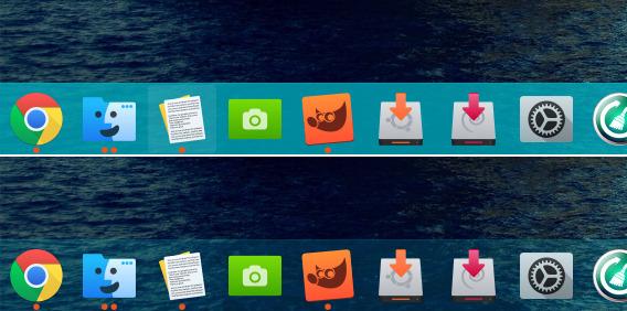 Sky-Blue Flat Ubuntu GNOME Shell テーマ ドック アクティブ