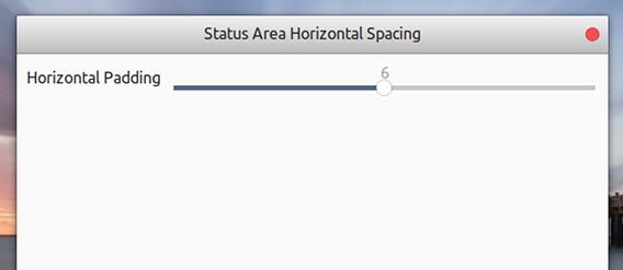 Status Area Horizontal Spacing GNOME拡張機能 Ubuntu 17.10 アイコン間隔を調整
