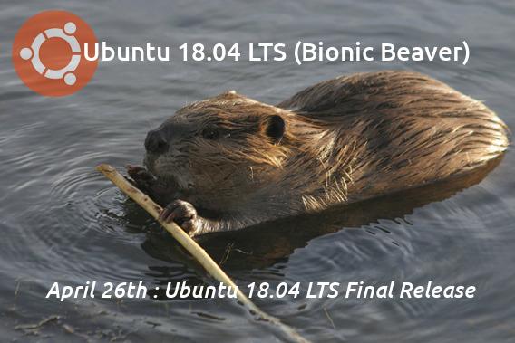 Ubuntu 18.04 LTS リリーススケジュール