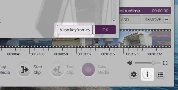 VidCutter 5.0.0 Ubuntu 動画 カット編集 キーフレームの表示