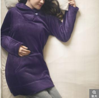 極暖ふわふわパジャマ紫