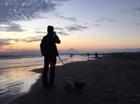 S20171103夕陽と康雄