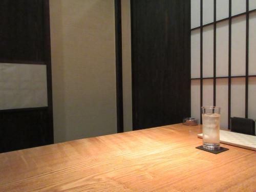 個室で食事