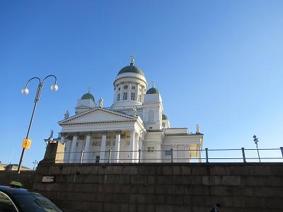 ヘルシンキ大聖堂横から