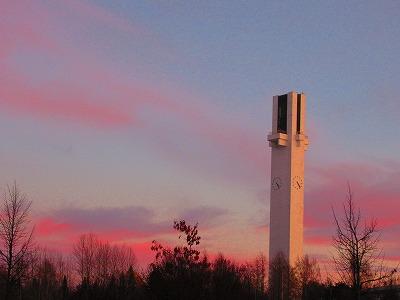 夕焼の時計塔