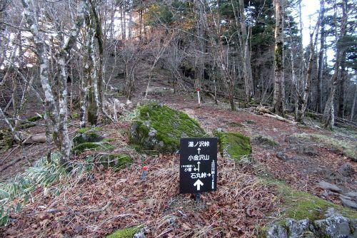 熊沢山への登り